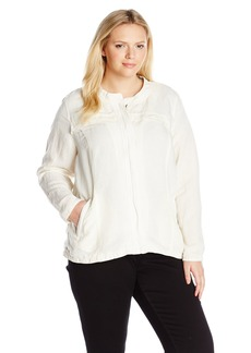 Lucky Brand Women's Plus Size Linen Jacket
