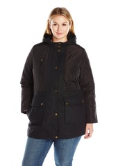 Lucky Brand Women's Plus Size Mid-Length Wool Quilted Jacket