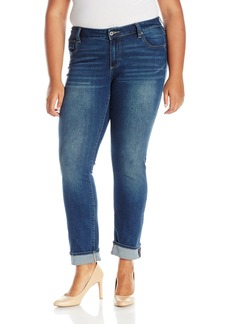 Lucky Brand Women's Plus Size Mid Rise Ginger Straight Jean In