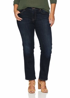 Lucky Brand Women's Plus Size Mid Rise Lolita Straight Jean