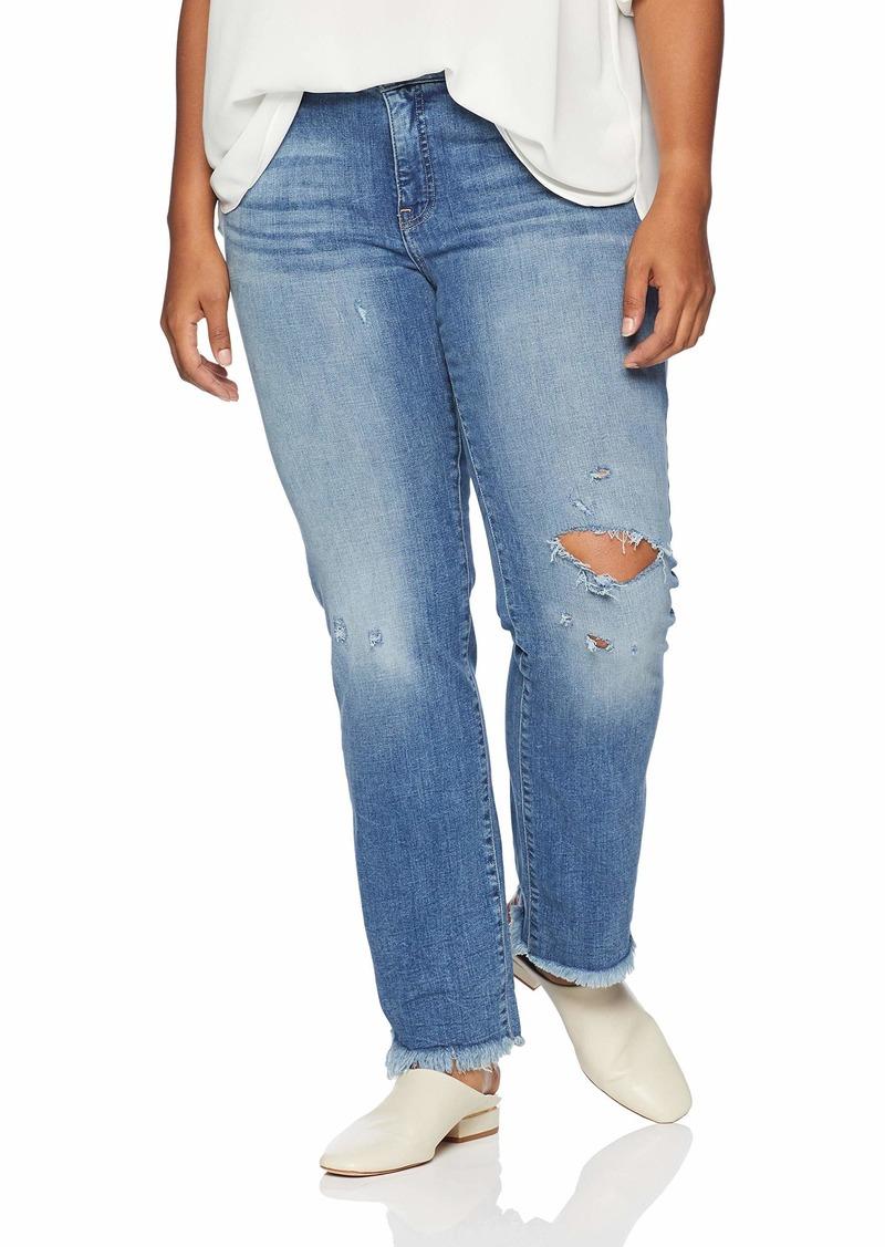 Lucky Brand Women's Plus Size Mid Rise Lolita Straight Jean