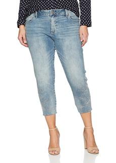 Lucky Brand Women's Plus Size Mid Rise Reese Boyfriend Jean LA Reina