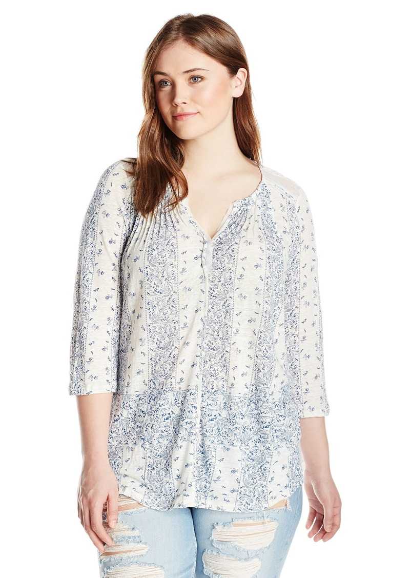 Lucky Brand Women's Plus Size Milan Lace Top