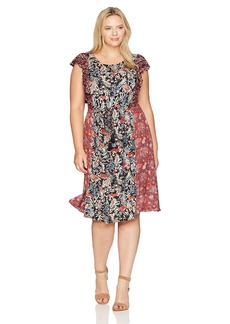 Lucky Brand Women's Plus Size Mixed Floral Dress  2X