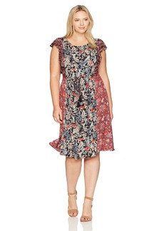 Lucky Brand Women's Plus Size Mixed Floral Dress  3X