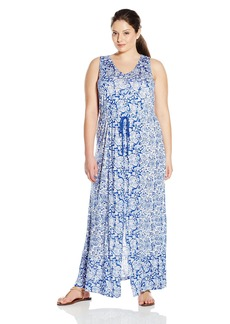 Lucky Brand Women's Plus Size Mixed-Print Dress  1X