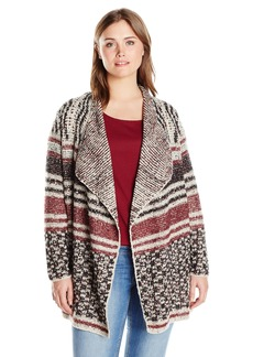 Lucky Brand Women's Plus Size Mixed Stripe Cardigan