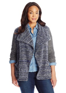 Lucky Brand Women's Plus Size Mixed Wrap Sweater
