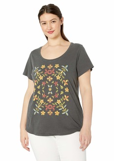 Lucky Brand Women's Plus Size Mosaic TEE