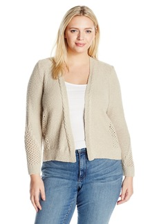 Lucky Brand Women's Plus Size Open Stitch Cardigan Sweater