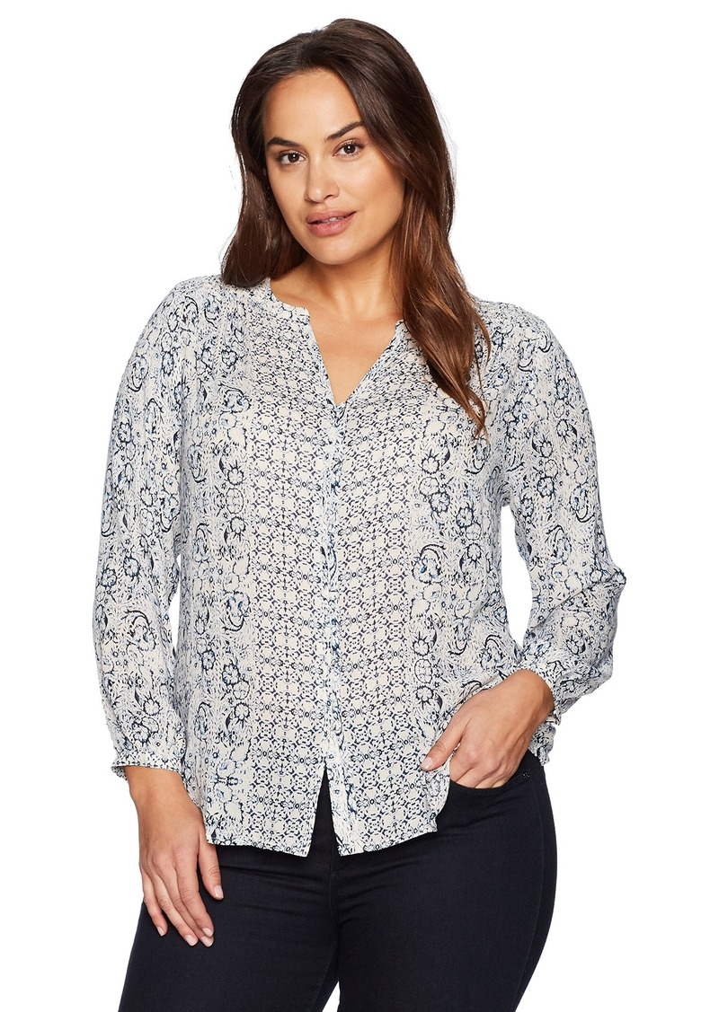 0200a963a874a Lucky Brand Lucky Brand Women s Plus Size Peasant Top