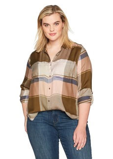 Lucky Brand Women's Plus Size Plaid Top