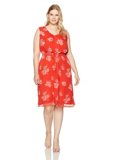 Lucky Brand Women's Plus Size Pop Floral Dress  3X