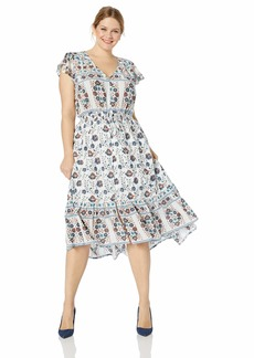 Lucky Brand Women's Plus Size Printed Felice Dress  1X