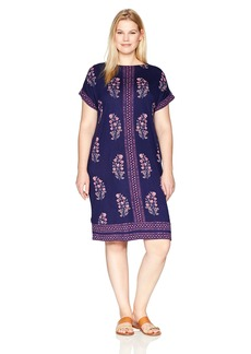 Lucky Brand Women's Plus Size Printed Tee Dress  3X