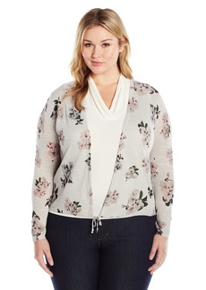 Lucky Brand Women's Plus Size Pull Tie Cardigan Sweater