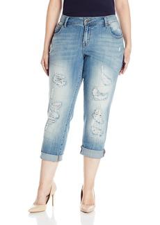 Lucky Brand Women's Plus Size Reese Mid Rise Boyfriend Jean