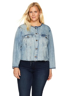 Lucky Brand Women's Plus Size Remade Smart Trucker Jean Jacket