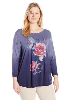 Lucky Brand Women's Plus Size Rose Bouquet Tee