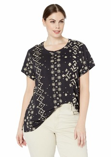Lucky Brand Women's Plus Size Short Sleeve Printed TEE