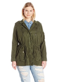 Lucky Brand Women's Plus Size Soft Military Jacket