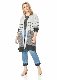 Lucky Brand Women's Plus Size Stripe Duster Cardigan Sweater