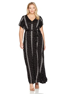 Lucky Brand Women's Plus Size Striped Ditsy Maxi Dress  3X