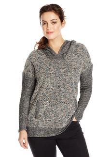 Lucky Brand Women's Plus Size Sweater Mixed Hoodie Sweatshirt