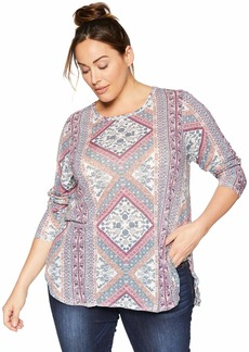 Lucky Brand Women's Plus Size Tapestry TEE
