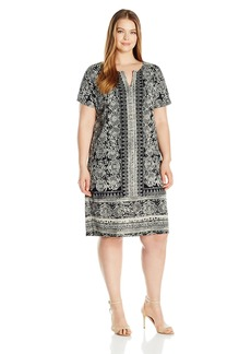 Lucky Brand Women's Plus Size Tee Dress  1X