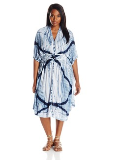 Lucky Brand Women's Plus Size Tie Dye Audrey Dress  1X