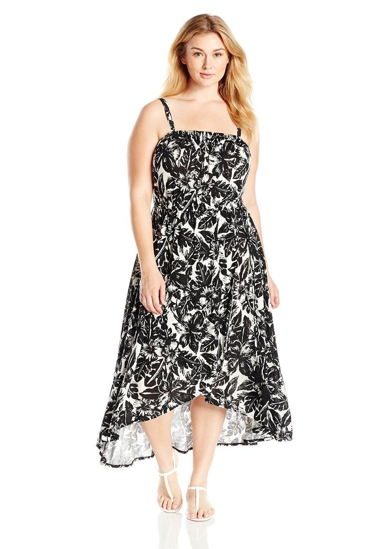Women\'s Plus Size Tropical Night Dress 2X