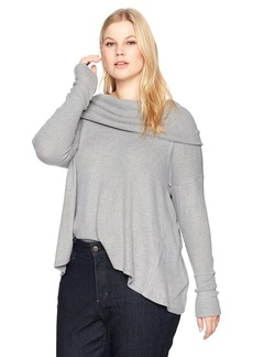 Lucky Brand Women's Tulip Hem Pullover Plus-Size Top