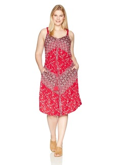 Lucky Brand Women's Plus Size Twist Strap Dress  1X