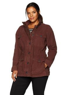 Lucky Brand Women's Plus Size Utility Jacket  1X