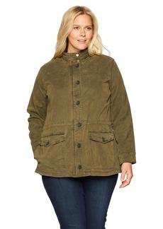 Lucky Brand Women's Plus Size Utility Jacket  2X