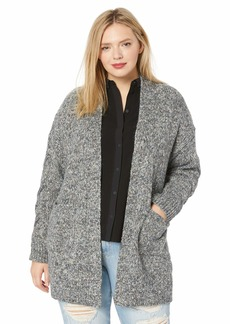 Lucky Brand Women's Plus Size Venice Marl Cardigan Sweater