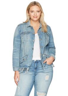 Lucky Brand Women's Plus Size Waisted Trucker Jacket