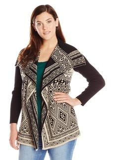 Lucky Brand Women's Plus Size Waterfall Cardigan Sweater