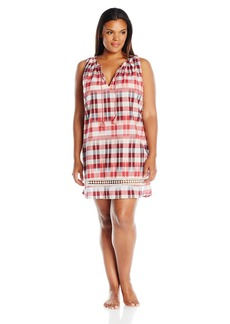 Lucky Brand Women's Plus Size Woven Tassel Sleep Dress  2X
