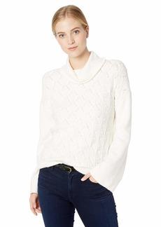 Lucky Brand Women's Pointelle Turtleneck Sweater  S