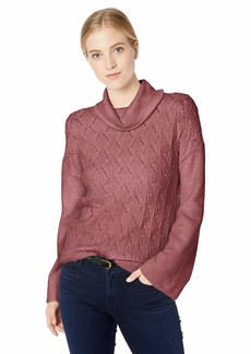 Lucky Brand Women's Pointelle Turtleneck Sweater  XL