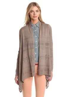 Lucky Brand Women's Pointelle Wrap Sweater