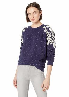 Lucky Brand Women's Polka DOT Chenille Pullover Sweatshirt  S