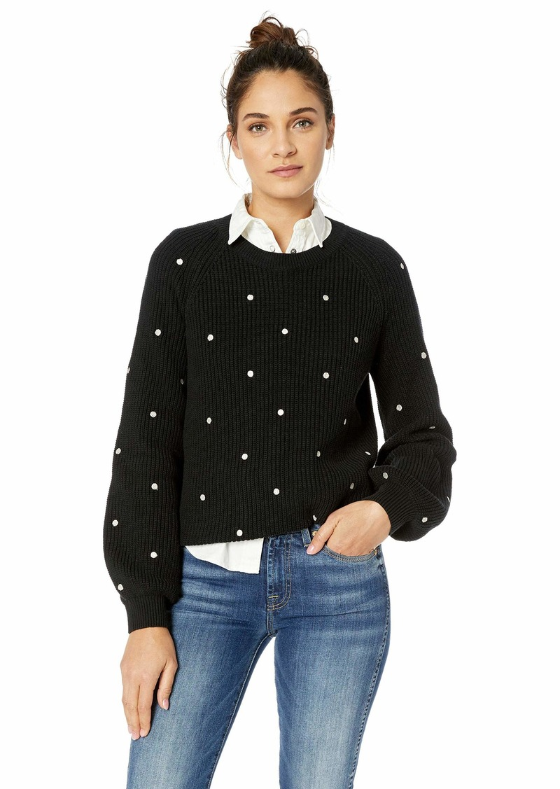 Lucky Brand Women's Polka DOT Pullover Sweater  L