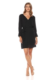 Lucky Brand Women's Printed Bell Sleeve Dress  L