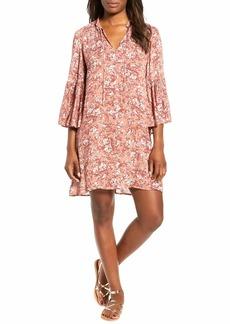 Lucky Brand Women's Printed Bell Sleeve Dress  S