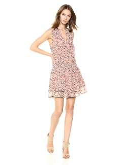 Lucky Brand Women's Printed Drop Waist Dress  XS