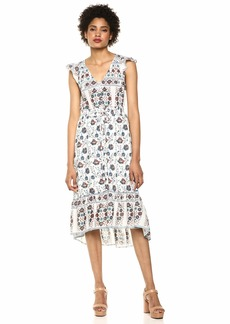 Lucky Brand Women's Printed Felice Dress  L