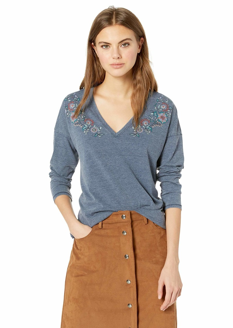 Lucky Brand Women's Printed Floral TEE  L